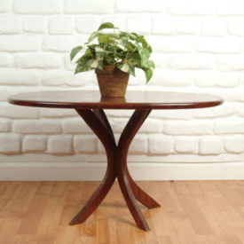 Oval Walnut End Table