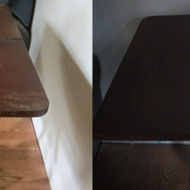 Black Table Restoration Before & After
