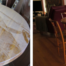 Kitchen Table Restoration Before & After