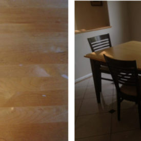 Square Table Restoration Before & After